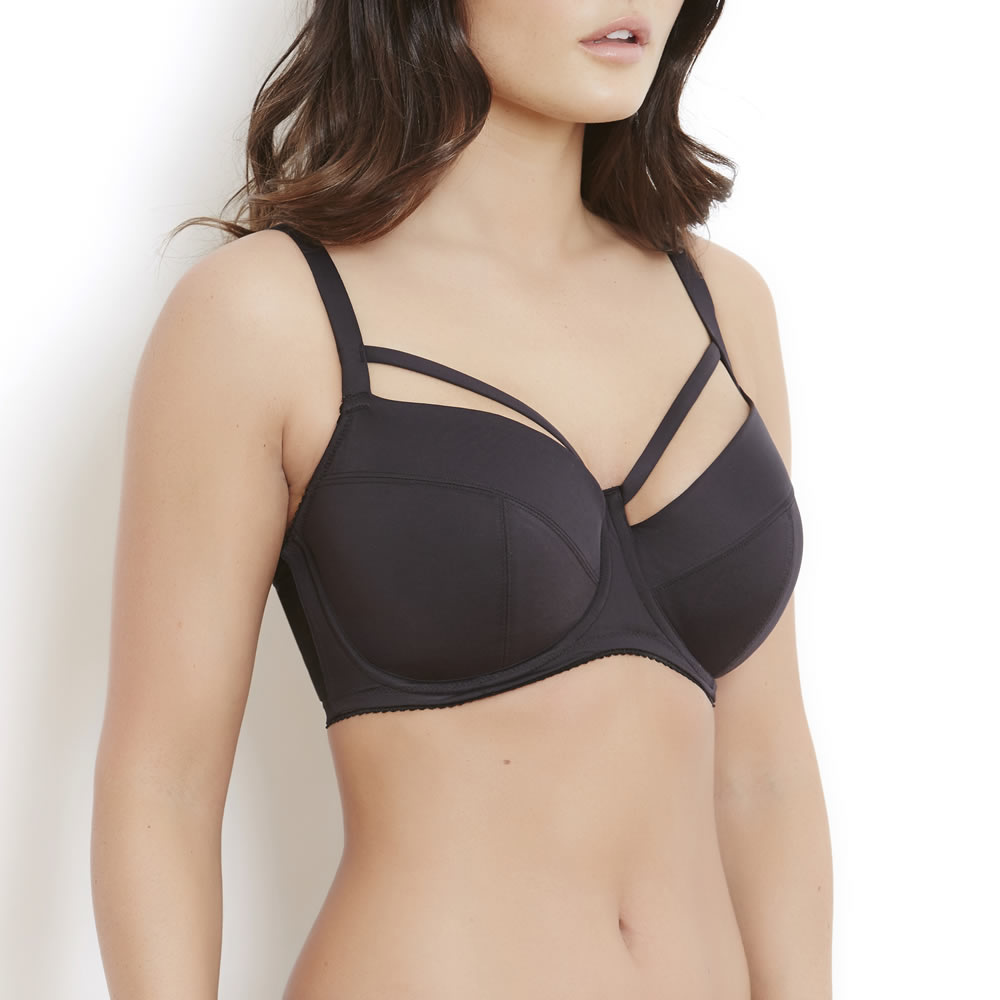 Louise Black Cage Bra Side