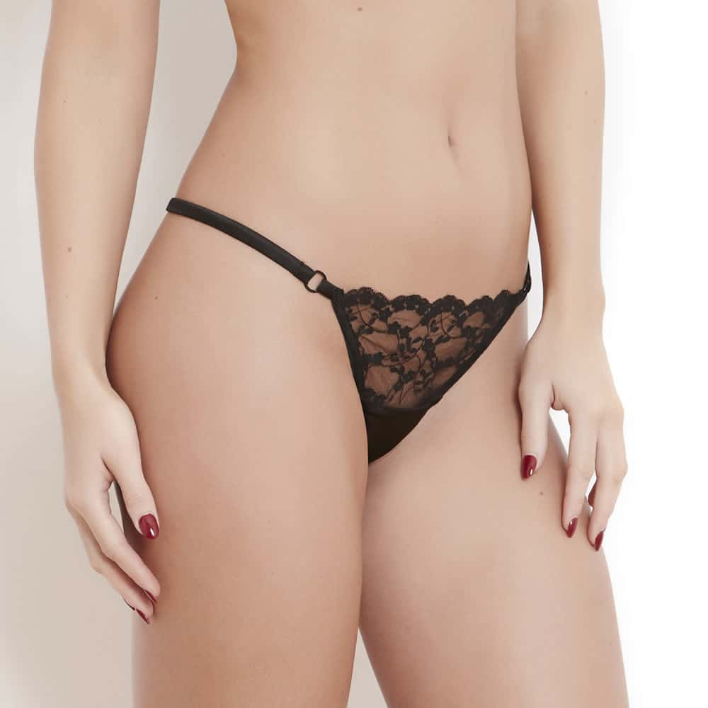 Sophia Black Lace String