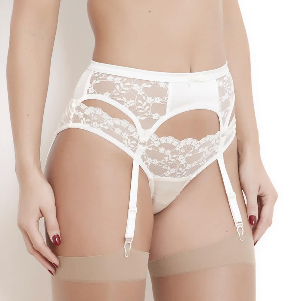 Sophia Ivory Lace Suspender Belt