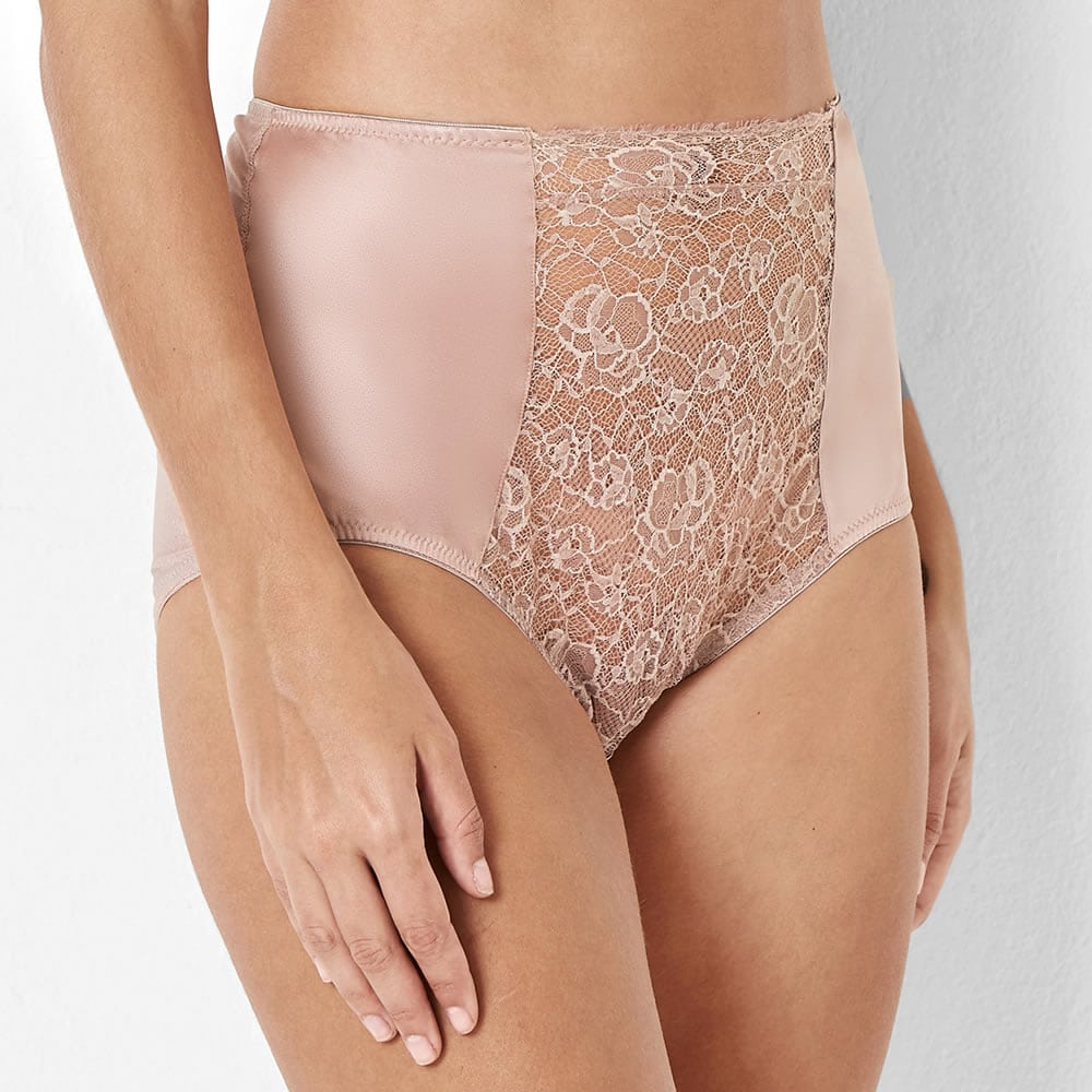ea9449da85 Abbie Pink Lace High Waisted Knickers