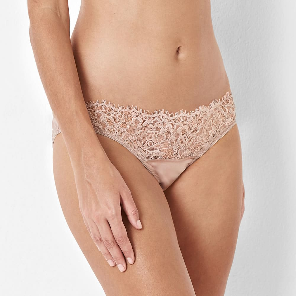 23a03c79b1 Pink Lace Knickers Side View