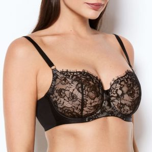 Abbie Black Lace Full Cup Bra