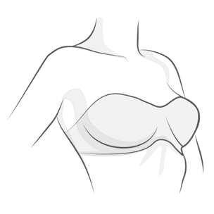 Strapless Bra Illustration