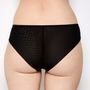Emilie Black Lace Knickers Back View