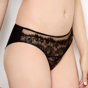 Emilie Black Lace Knickers