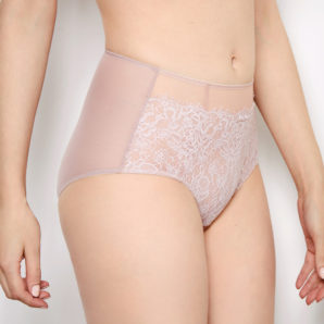 Abbie Pink Lace High Waisted Knickers