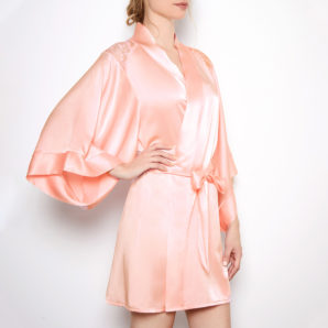 Sophia Blush Silk Robe